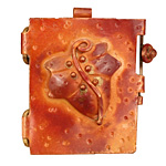 Patricia Healey Copper Leaf Locket 38x44mm