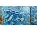 Larimar Blue Crazy Lace Thin Pillow 35x25mm