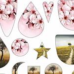 Nunn Design Color Trees Collage Sheet