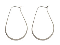 Nunn Design Antique Silver (plated) Small Oval Hoop Earwire 26x37mm