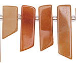 Red Aventurine Stick Slice Focal Set 9-11x26-35mm