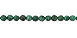 Malachite Faceted Round 4mm