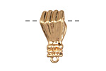 Zola Elements Matte Gold (plated) Figa Fist Focal 11.5x25mm