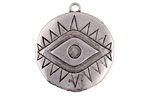 Zola Elements Antique Silver (plated) Evil Eye Coin Focal 26x30mm