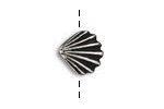 TierraCast Antique Silver (plated) Scallop Shell Button 13mm