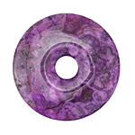 Purple Crazy Lace Agate Donut 40mm
