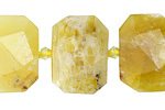 Yellow Opal Faceted Flat Slab 14-16x20-24mm