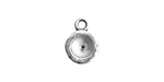 Nunn Design Antique Silver (plated) Organic Circle Bezel Pendant 10x15mmm