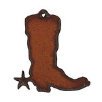 The Lipstick Ranch Rusted Iron Cowboy Boot Pendant 40x44mm
