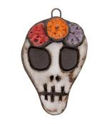 Gaea Ceramic Day of the Dead Skull Flower Crown Pendant 29-30x47-48mm