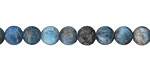 Pacific Blue Apatite (matte) Round 6.5mm