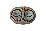 Gaea Ceramic Choco Sleeping Owl Bead 33x20mm
