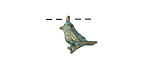 Zola Elements Patina Green Brass Little Bird Charm 13mm