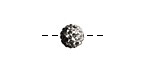 Jet/Crystal Ombre Pave Round 8mm (1.5mm hole)