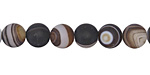 Dark Brown Line Agate (matte) Round 8mm