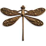Vintaj Natural Brass Ornate Dragonfly Pendant 50x39mm