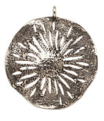 Saki White Bronze Sand Dollar Pendant 45x51mm