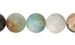 Black Gold Amazonite Round 12mm
