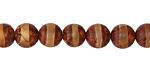 Tibetan (Dzi) Agate Banded Round 10mm