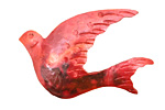 Patricia Healey Copper Dove Pendant 43x27mm