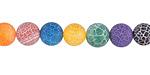 Multi-Color Fire Agate (bright-matte) Round 8mm
