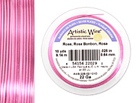 Artistic Wire Silver Plated Rose 26 gauge, 30 yards