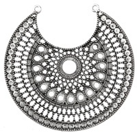 Zola Elements Antique Silver (plated) Filigree Medallion Crescent Focal 65x66mm