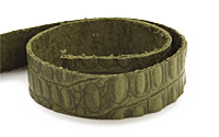 """TierraCast Olive Hornback Leather Strap 10"""" x 1/2"""""""