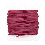 Wine Waxed Nylon Flat Braided Cord 1mm