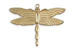 Vintaj Vogue Patterned Wings Dragonfly Charm 36x27.5mm