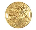 Brass Blooming Lotus Round Link 38mm