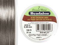 "Beadalon Bright .015"" 7 Strand Wire 100ft."
