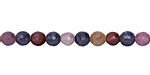 Multi Stone (Ruby & Sapphire) Faceted Round 4mm
