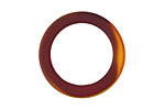 Black Cherry Red Recycled Glass Ring 27mm