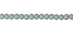 Matte Seafoam w/ Luster Crystal Faceted Rondelle 4mm