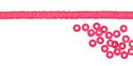 African Trade Hot Pink Vinyl/Vulcanite Heishi 3mm