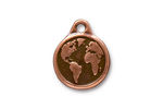 TierraCast Antique Copper (plated) Earth Pendant 16x20mm
