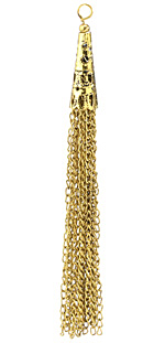 Zola Elements Antique Gold (plated) Filigree Cone Chain Tassel 8x100mm