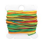 Rainbow Waxed Nylon Flat Braided Cord 1mm
