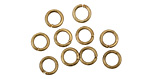 Antique Brass (plated) Round Jump Ring 6mm, 18 gauge