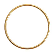 Nunn Design Antique Gold (plated) Open Frame Grande Hoop 49mm