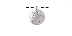 Rhodium (plated) w/ Crystals Libra Constellation Charm 11x13mm