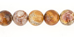 Fossil Jasper Round 10-11mm
