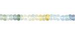 Aquamarine (multi) Faceted Rondelle 2-4x5mm