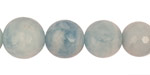 Aquamarine Faceted Round Graduated 7-16mm