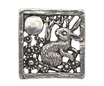 Green Girl Pewter Moon Gazing Hare Focal 32mm