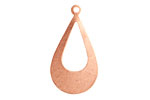Copper Open Teardrop Blank 17x31mm