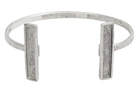 Nunn Design Antique Silver (plated) Rectangle Bezel Cuff Bracelet