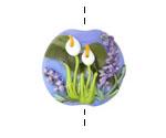 Grace Lampwork Calla Lily Lake Lentil 24-25mm