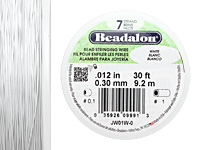 "Beadalon White .012"" 7 Strand Wire 30ft."